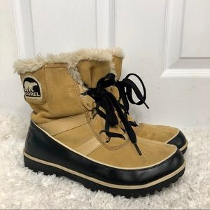 Sorel Tivoli Tan & Black Waterproof Boots